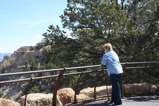 Yvonne at Grand Canyon